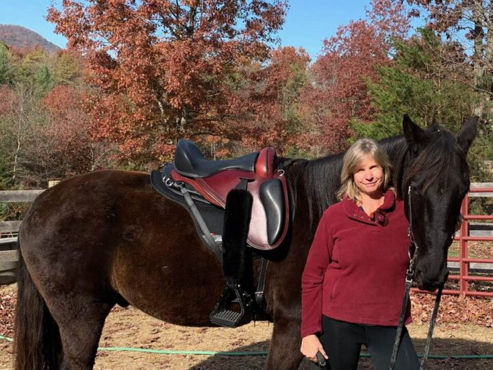 Paulita Neff with her Tennessee Walker horse