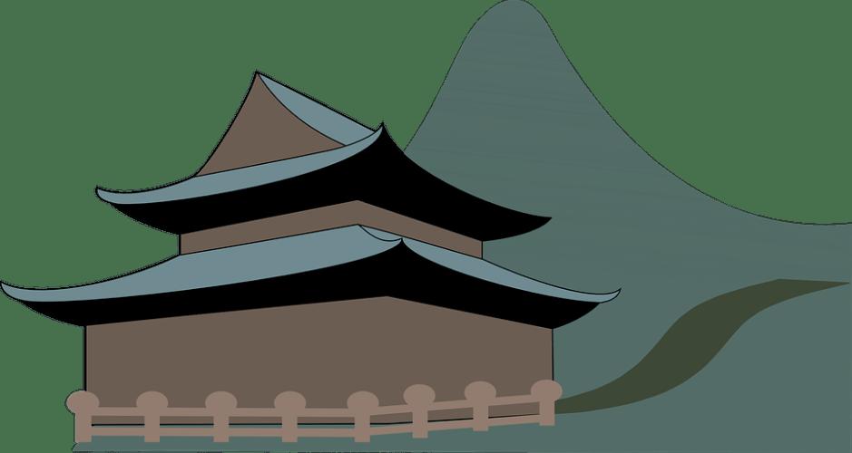 abstract temple pagoda