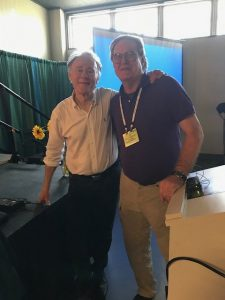 Eric Armstrong with Graham Hancock at New Living Expo, San Mateo, 2019