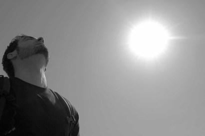 breathing man sky