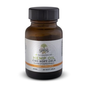 Tree of Life Seeds - Hemp Oil - CBD Soft Gels - Curcumin - 25MG