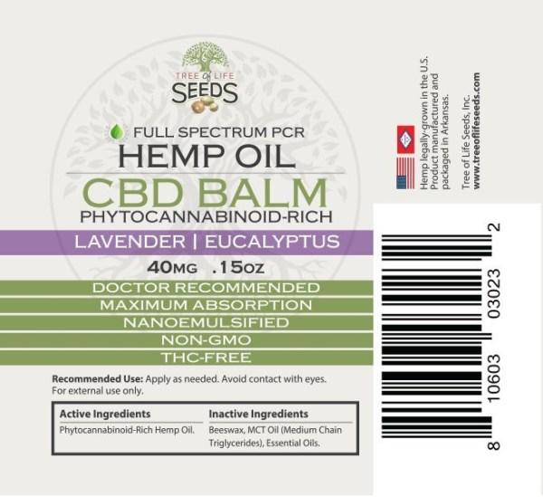 Lavender Balm Chapstick Size Label .15 oz CBD Oil