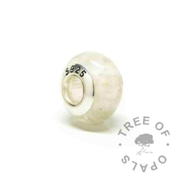 charm bead back, solid sterling silver S925 stamped