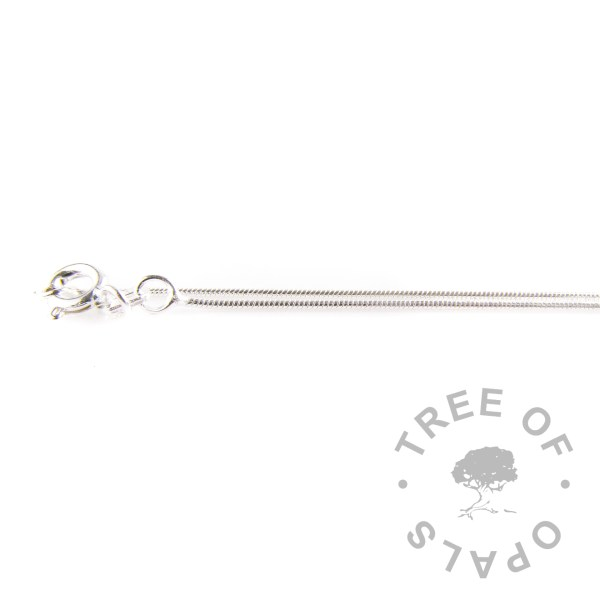 light weight 0.8mm sterling silver snake chain Tree of Opals necklace upgrade