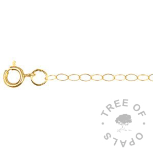 light weight 9ct gold chain