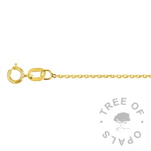 medium weight 9ct gold chain