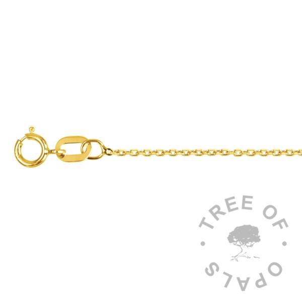 medium weight 9ct gold chain