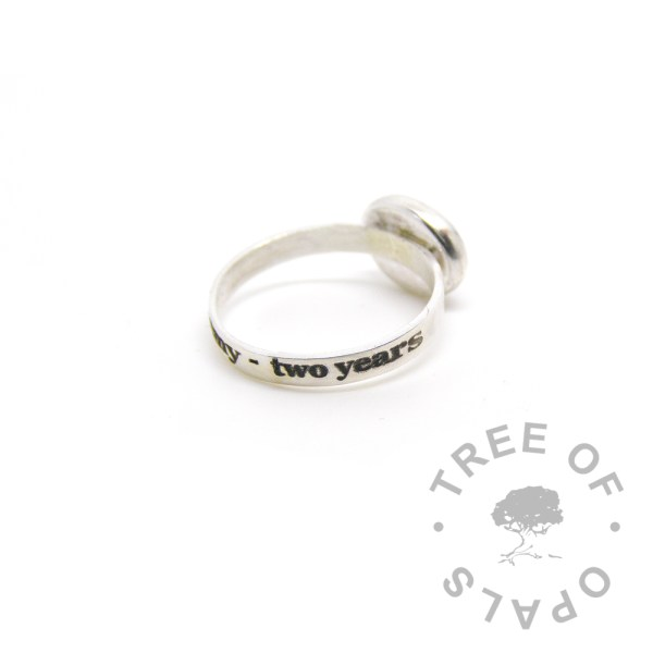 breastfeeding laser engraved ring 3mm