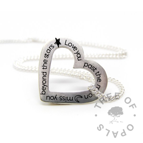 moon engraved heart washer mockup - image engraving Tree of Opals