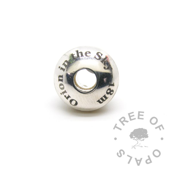 laser engraved charm washer 18 months breastfeeding in solid sterling silver