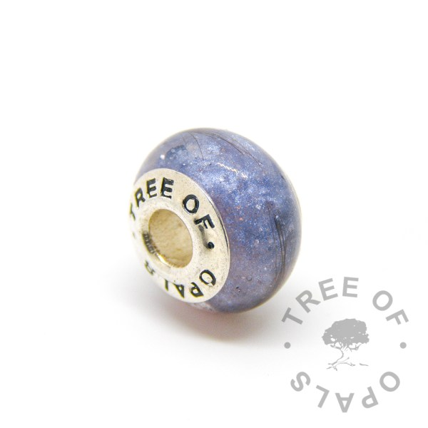 Aegean blue lock of hair charm for Pandora bracelets by Tree of Opals