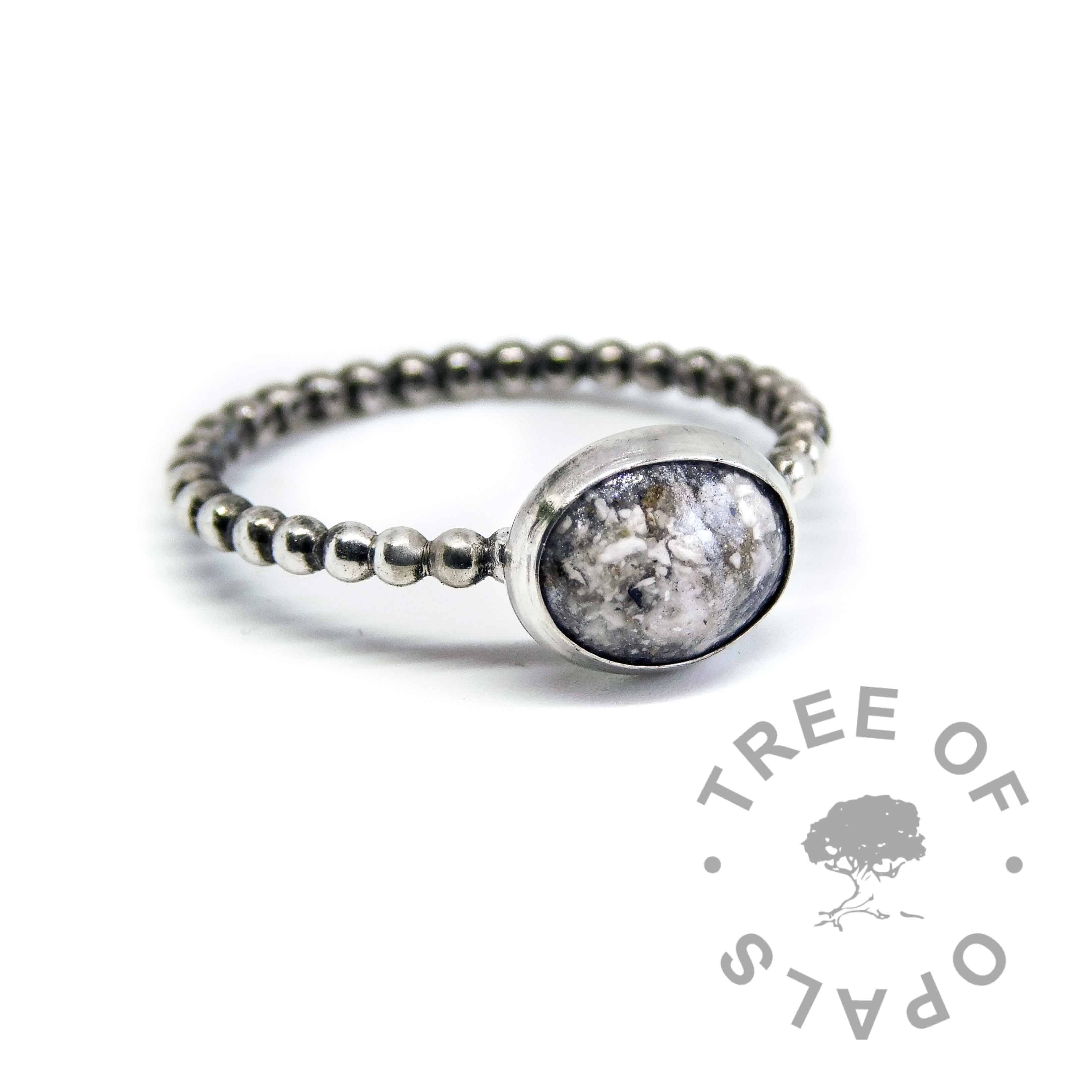 Cremation Ash Ring In Solid Sterling Silver Handmade By