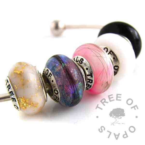 set of 5 charm beads