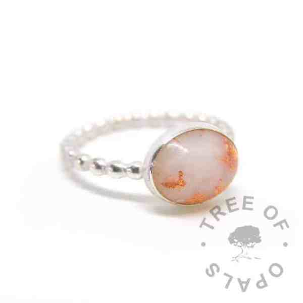 breastmilk ring copper bubble