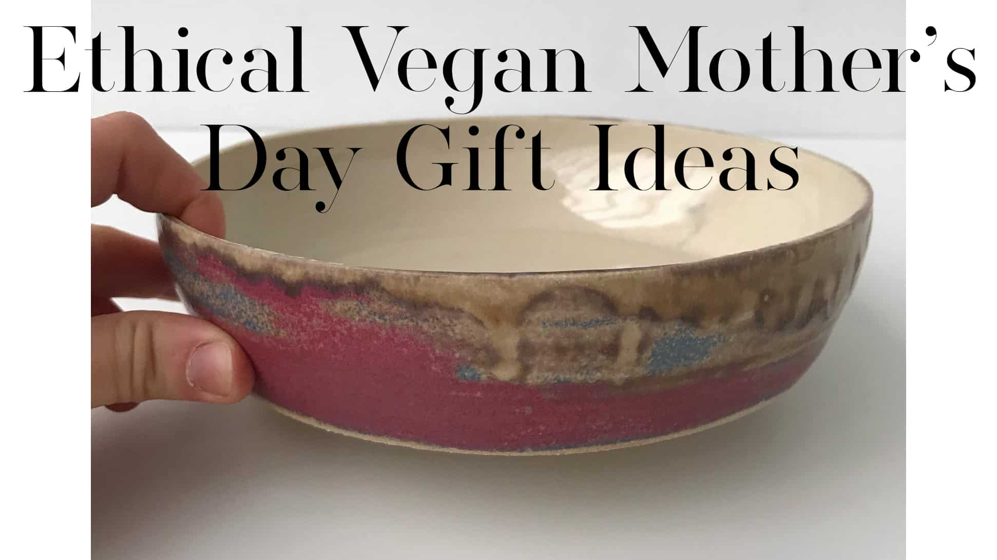 ethical vegan Mother's Day gift Ideas - Pink pasta bowl, handmade wide dish, ceramic serving bowls by CharlottesCeramicArt