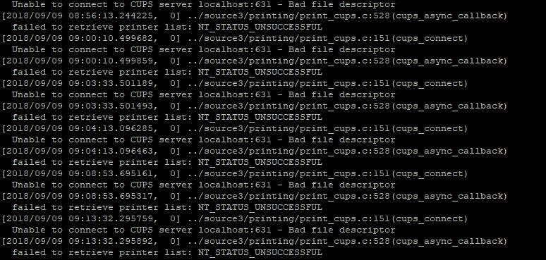 Как отключить службу печати CUPS на Samba-сервере