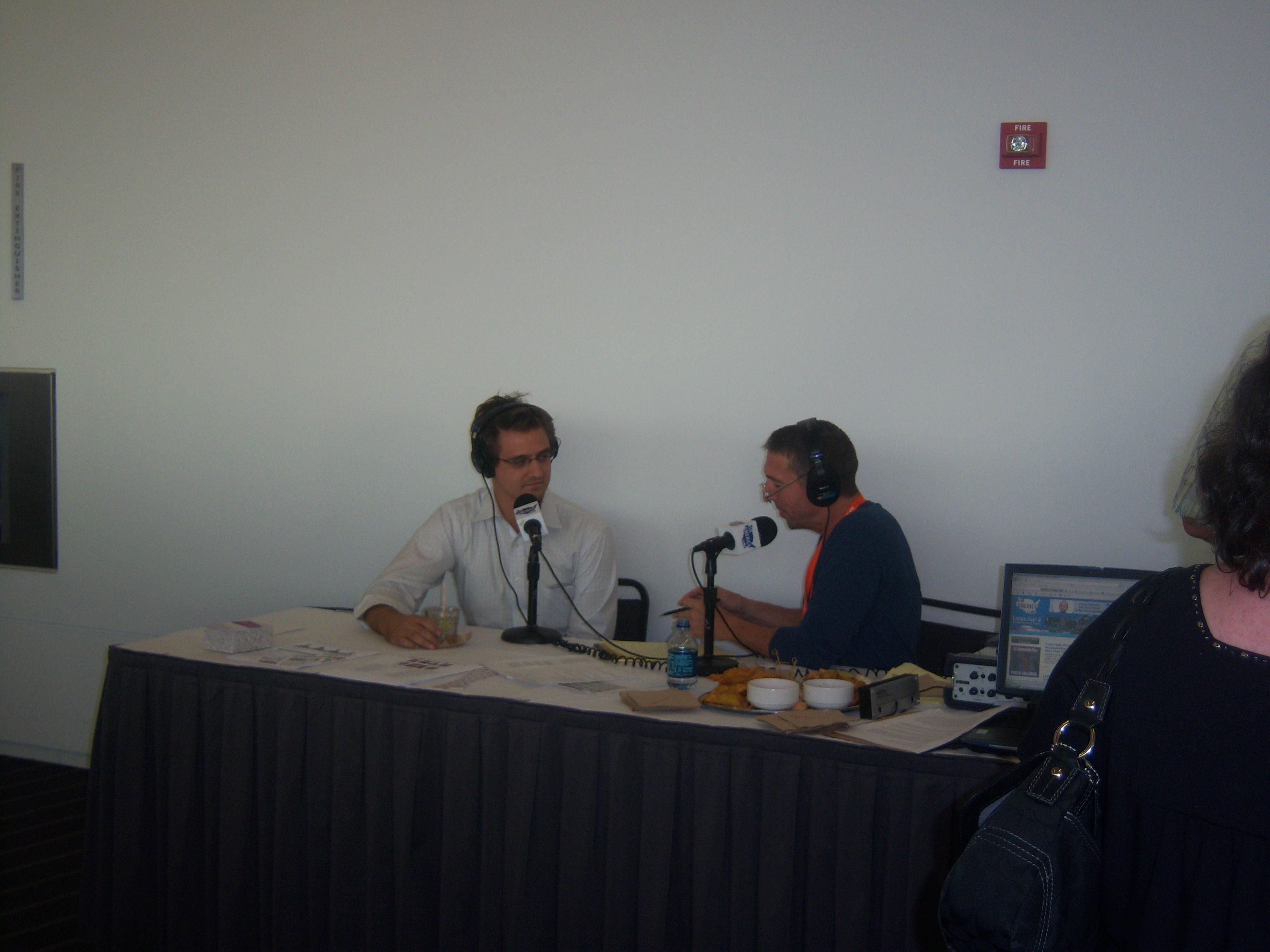 Ron Reagan interviews Chris Hayes on the radio