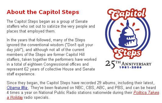 Capitol Steps screen shot