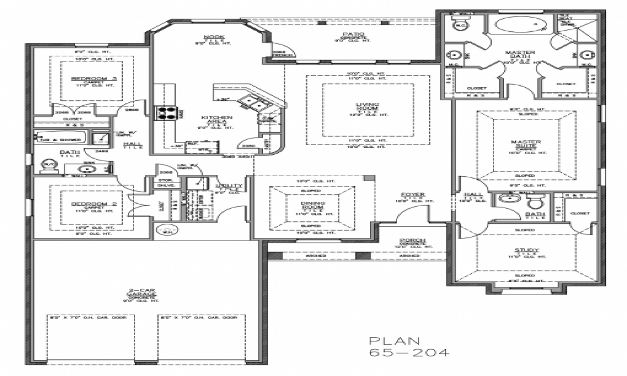 Split Bedroom Floor Plans Home Plans With Split Bedrooms