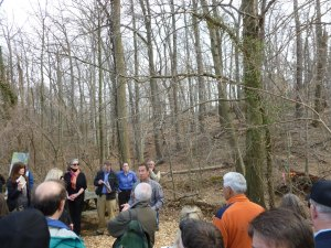 Citizens showed up to tour the site where trees will be removed on March 13, 2013