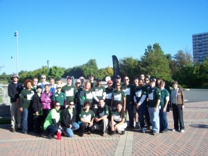 TD Bank employees and TreeStewards planted 30 trees at Tarleton Park on October 15, 2013