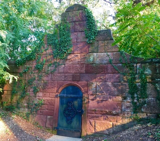 facade of the crypt at ivy Hill Cemetery, Alexandria VA