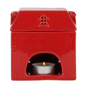 Brûle-parfum maison rouge