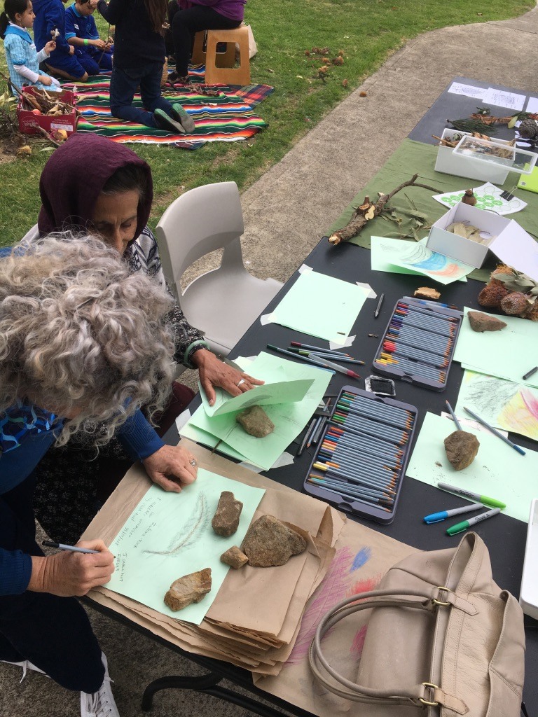 Frottage Workshop - Local Artist Zahir Noor and TVS member Peggy Wallach