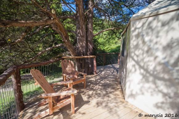 Deck on Aurora treehouse