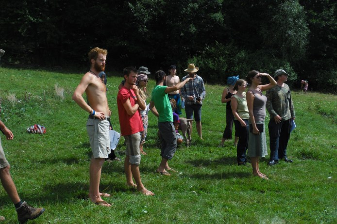 Doug explaining the landscape in Slovakia PDC, 2015