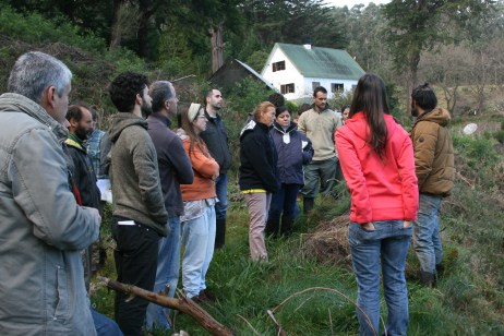 Joana on the farm tour