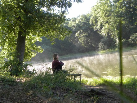 Lakeside contemplation from a 2013 intern and good friend, Anna Zisa
