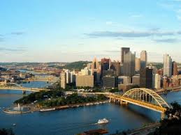 Pittsburg where et Ohio River is born