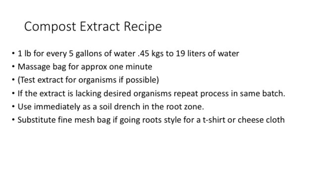 Compost extract recipe