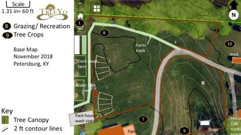 Different zones with Treasure Lake, Base Maps for smaller areas with 60 acre, 27 HA property