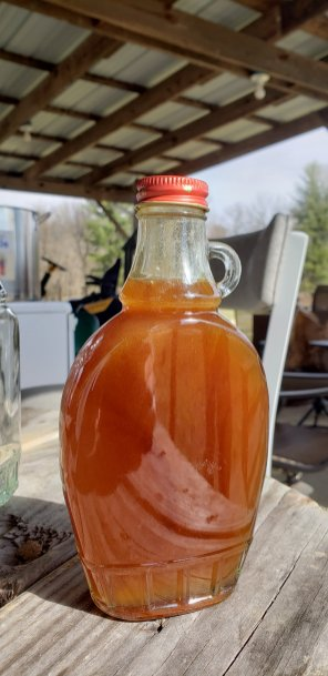 syrup in a bottle