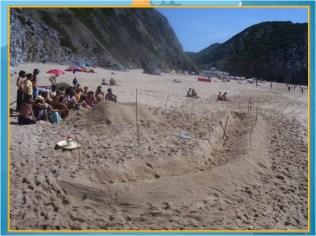 swale at adraga beach almocageme portugal pdc