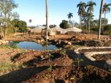 Lower half of the project, ponds, terrace beds, plantain circles, greenhouses