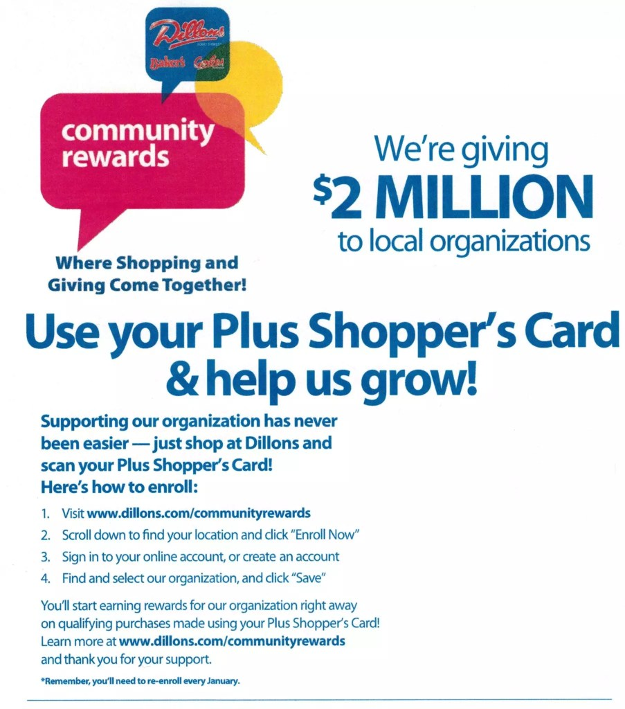 Dillons Community Rewards Info