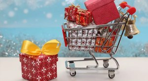 Mini Shopping Cart with Gifts