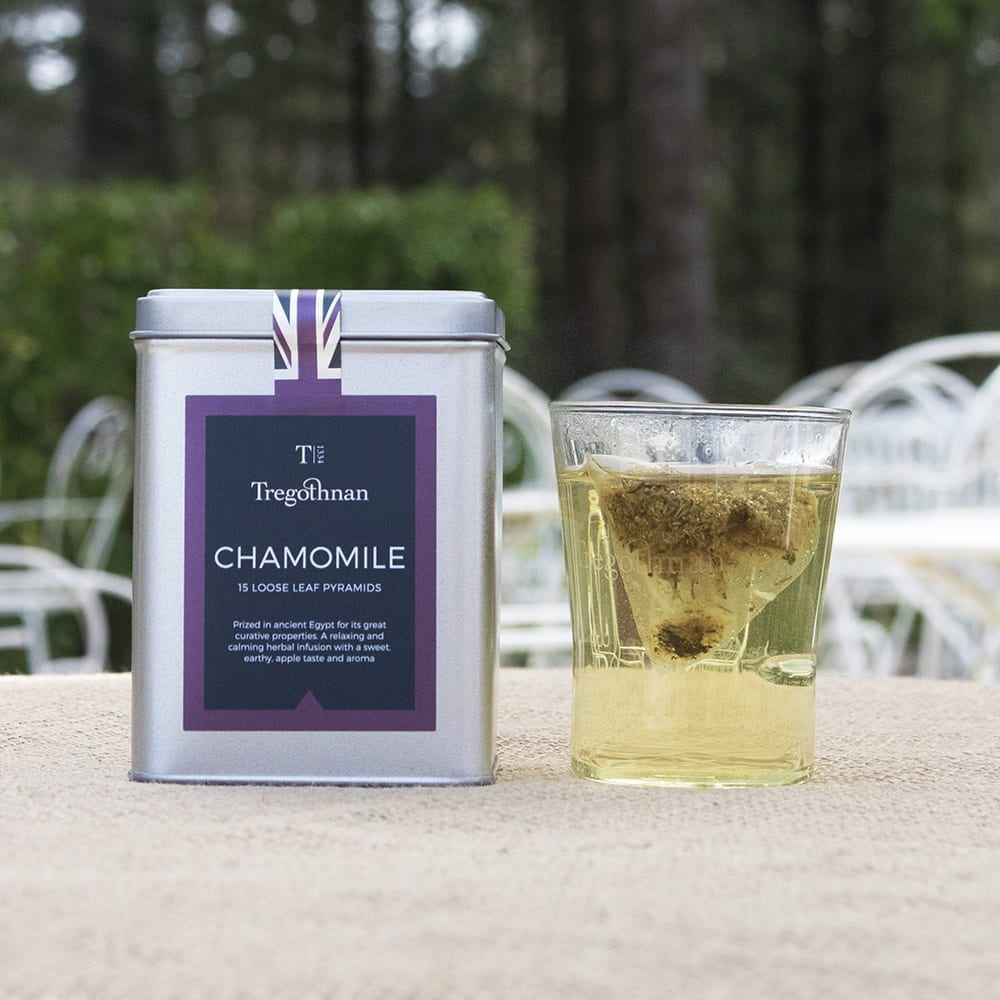 Chamomile 15 pyramids with a brewed shot