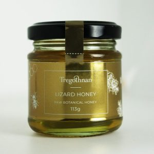 Honey from the lizard on a white background
