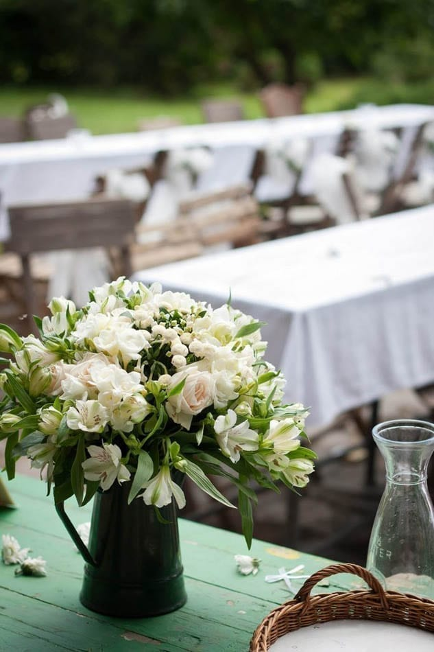 A perfect Vintage White Bouquet made up of British Flowers
