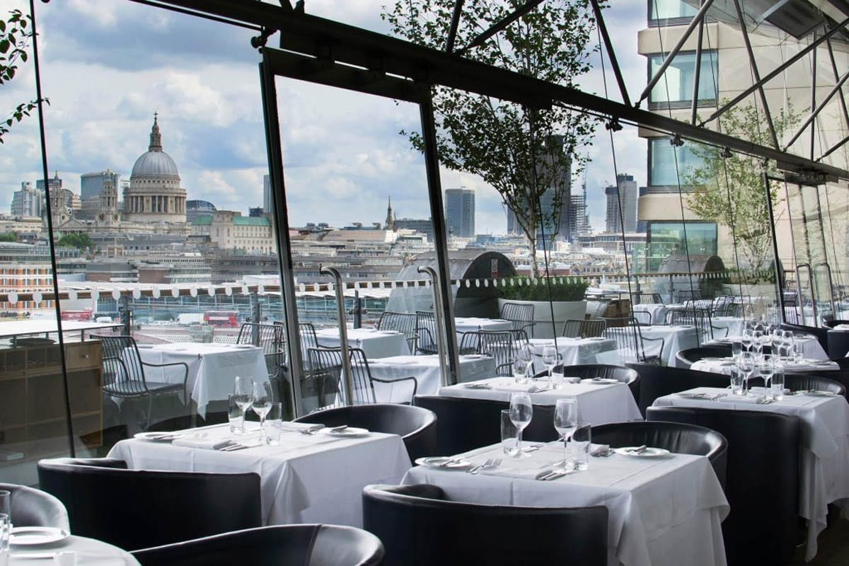 The OXO Tower Restaurant, Bar and Brasserie is located on the eighth floor of the iconic OXO Tower building