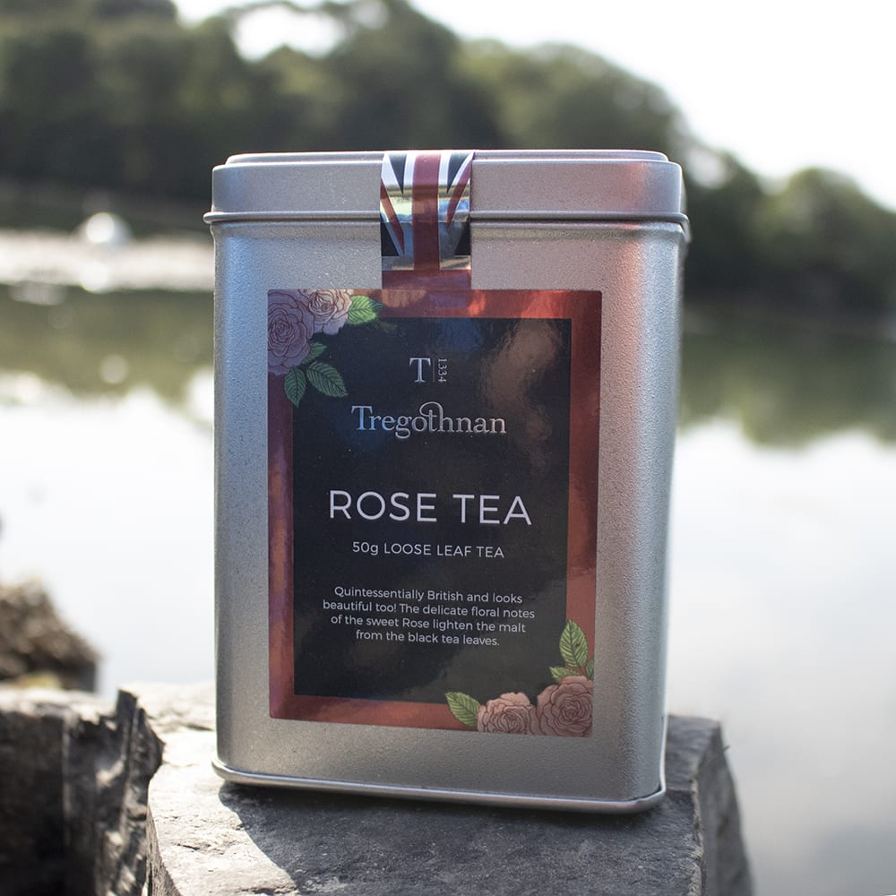 ROSE TEA COOMBE TIN PETALS RED Valentine's Day