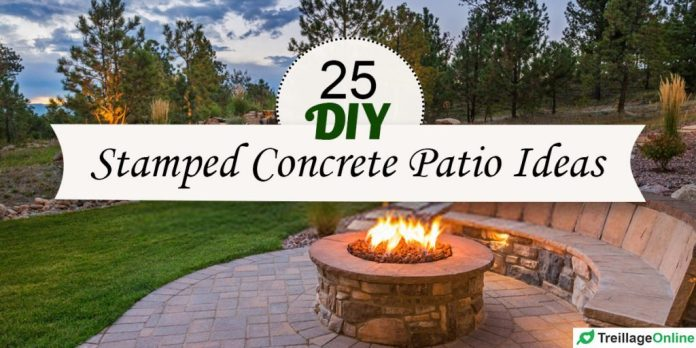 25 Awesome Diy Stamped Concrete Patio Ideas With Pictures