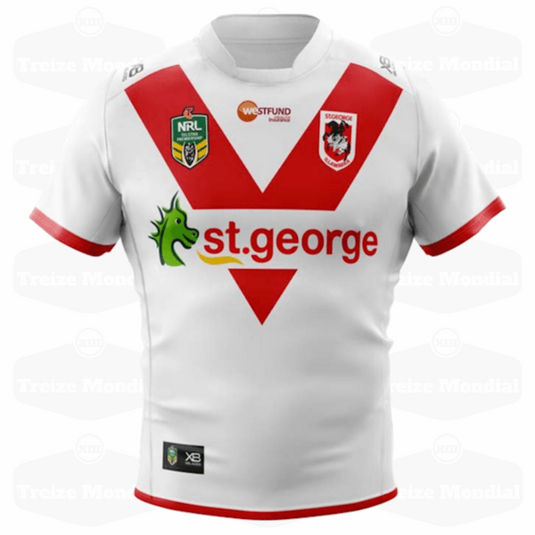 Maillot domicile St George Illawarra Dragons