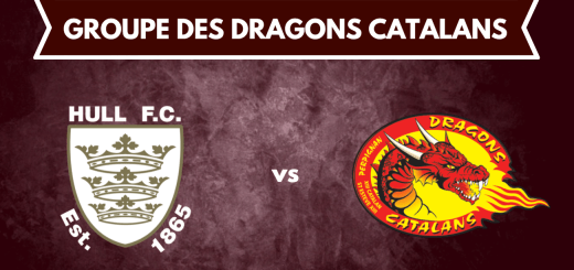 groupe des Dragons Catalans pour affronter Hull FC
