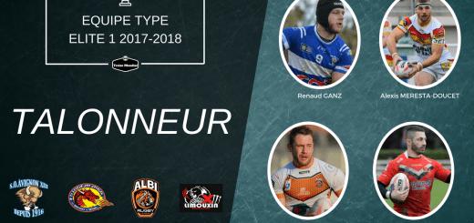 Talonneur équipe type Elite 1 2017-2018