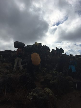 Porters making a dash for it